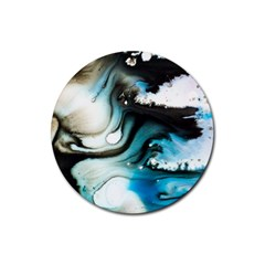 Abstract Painting Background Modern Rubber Coaster (round)