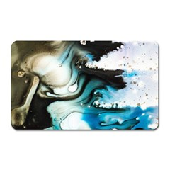 Abstract Painting Background Modern Magnet (rectangular)