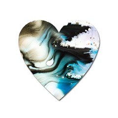 Abstract Painting Background Modern Heart Magnet