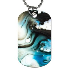 Abstract Painting Background Modern Dog Tag (one Side)
