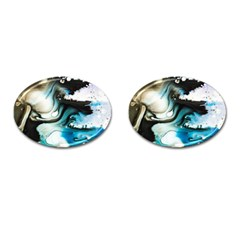 Abstract Painting Background Modern Cufflinks (oval)