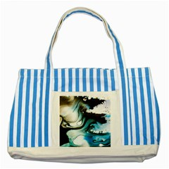 Abstract Painting Background Modern Striped Blue Tote Bag