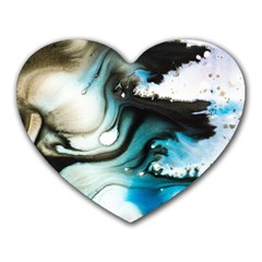 Abstract Painting Background Modern Heart Mousepads