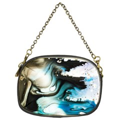 Abstract Painting Background Modern Chain Purses (one Side)
