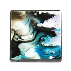 Abstract Painting Background Modern Memory Card Reader (square)