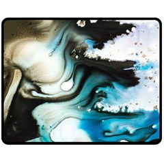 Abstract Painting Background Modern Double Sided Fleece Blanket (medium)