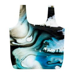 Abstract Painting Background Modern Full Print Recycle Bags (l)