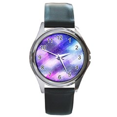 Background Art Abstract Watercolor Round Metal Watch