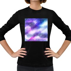 Background Art Abstract Watercolor Women s Long Sleeve Dark T Shirts