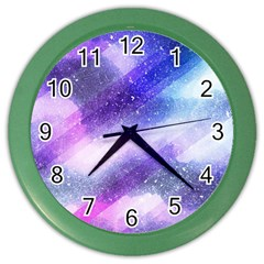 Background Art Abstract Watercolor Color Wall Clocks