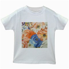 Texture Fabric Textile Detail Kids White T Shirts