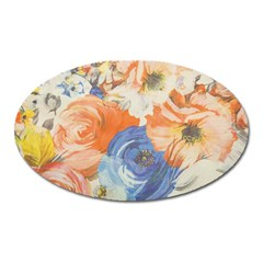 Texture Fabric Textile Detail Oval Magnet by Nexatart