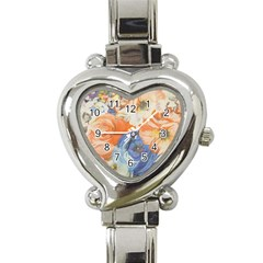 Texture Fabric Textile Detail Heart Italian Charm Watch