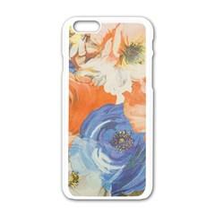 Texture Fabric Textile Detail Apple Iphone 6/6s White Enamel Case
