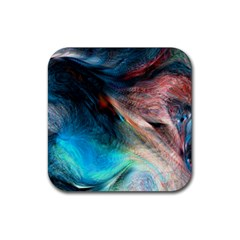 Background Art Abstract Watercolor Rubber Square Coaster (4 Pack)  by Nexatart