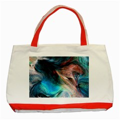 Background Art Abstract Watercolor Classic Tote Bag (red) by Nexatart