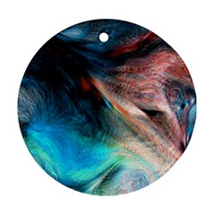 Background Art Abstract Watercolor Round Ornament (two Sides)