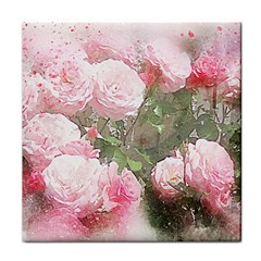 Flowers Roses Art Abstract Nature Tile Coasters