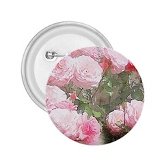 Flowers Roses Art Abstract Nature 2 25  Buttons