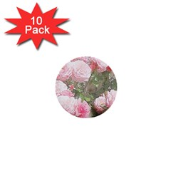 Flowers Roses Art Abstract Nature 1  Mini Buttons (10 Pack)