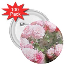 Flowers Roses Art Abstract Nature 2 25  Buttons (100 Pack)