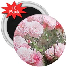 Flowers Roses Art Abstract Nature 3  Magnets (10 Pack)