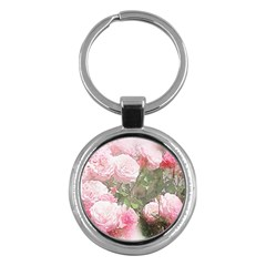 Flowers Roses Art Abstract Nature Key Chains (round)
