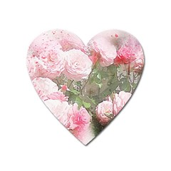 Flowers Roses Art Abstract Nature Heart Magnet