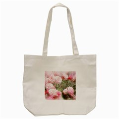 Flowers Roses Art Abstract Nature Tote Bag (cream)