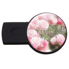 Flowers Roses Art Abstract Nature Usb Flash Drive Round (4 Gb)