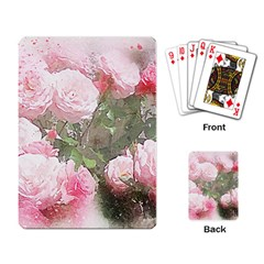 Flowers Roses Art Abstract Nature Playing Card