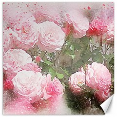 Flowers Roses Art Abstract Nature Canvas 16  X 16