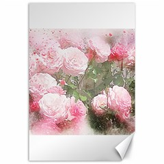 Flowers Roses Art Abstract Nature Canvas 24  X 36