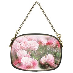 Flowers Roses Art Abstract Nature Chain Purses (one Side)