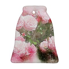 Flowers Roses Art Abstract Nature Bell Ornament (two Sides) by Nexatart