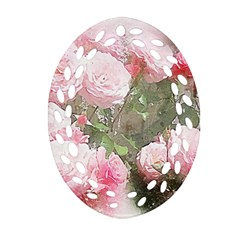 Flowers Roses Art Abstract Nature Ornament (oval Filigree)