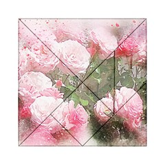 Flowers Roses Art Abstract Nature Acrylic Tangram Puzzle (6  X 6 )