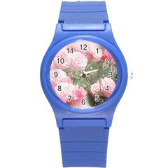 Flowers Roses Art Abstract Nature Round Plastic Sport Watch (s)