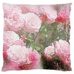 Flowers Roses Art Abstract Nature Large Cushion Case (one Side)