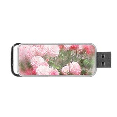 Flowers Roses Art Abstract Nature Portable Usb Flash (two Sides)