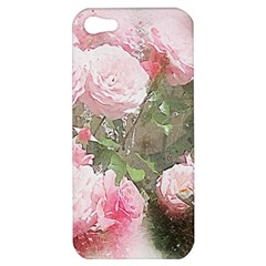 Flowers Roses Art Abstract Nature Apple Iphone 5 Hardshell Case
