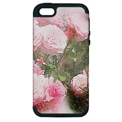 Flowers Roses Art Abstract Nature Apple Iphone 5 Hardshell Case (pc+silicone)