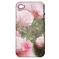 Flowers Roses Art Abstract Nature Apple Iphone 4/4s Hardshell Case (pc+silicone) by Nexatart