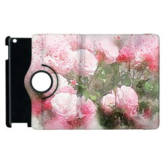 Flowers Roses Art Abstract Nature Apple Ipad 3/4 Flip 360 Case