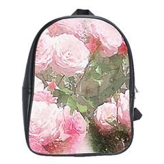 Flowers Roses Art Abstract Nature School Bag (xl) by Nexatart