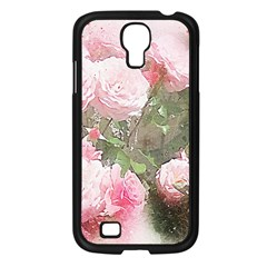 Flowers Roses Art Abstract Nature Samsung Galaxy S4 I9500/ I9505 Case (black)