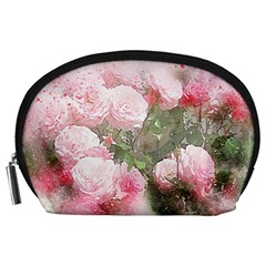 Flowers Roses Art Abstract Nature Accessory Pouches (large)