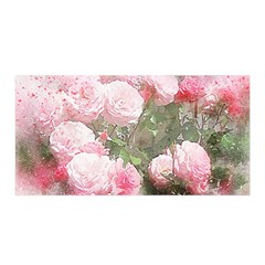 Flowers Roses Art Abstract Nature Satin Wrap