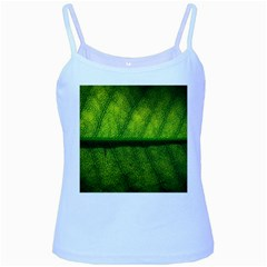 Leaf Nature Green The Leaves Baby Blue Spaghetti Tank