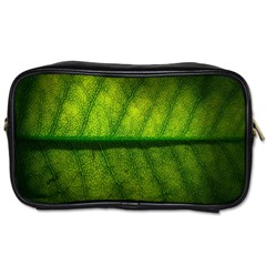 Leaf Nature Green The Leaves Toiletries Bags 2 Side by Nexatart
